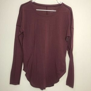 The North Face long sleeve Maroon Women's Small
